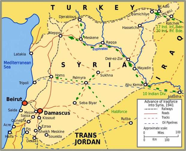 Операция «Экспортёр». Как британцы захватили Сирию