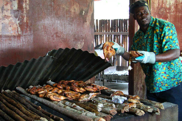 Йерк (Ямайка) в мире, еда, шашлык