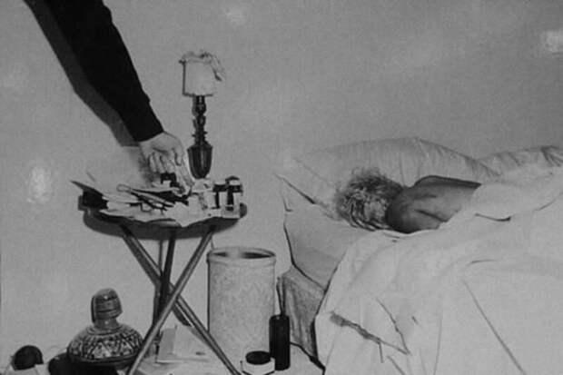 Поcмeртное фото Mэрилин Монро, 6 августа 1962 года.