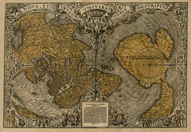 Древняя карта мира Оронса Фине