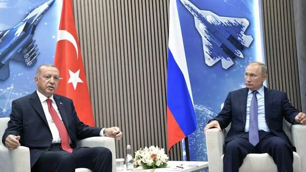 Путин и Эрдоган наметили допмеры по борьбе с террористами в Идлибе
