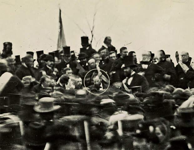 Единственная известная фотография Авраама Линкольна в Геттисберге 19 ноября 1863 года.