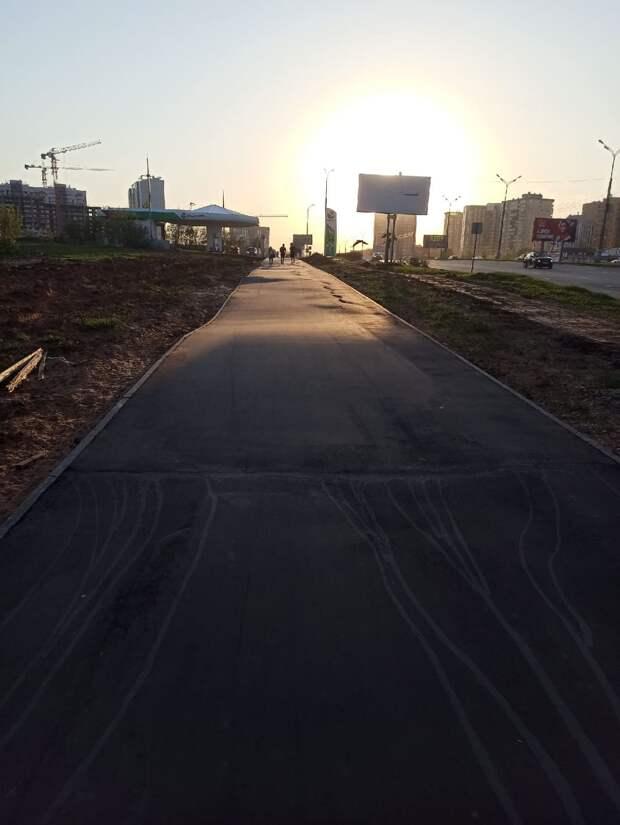 В Ижевске переделают тротуар и велодорожку на улице 10 лет Октября