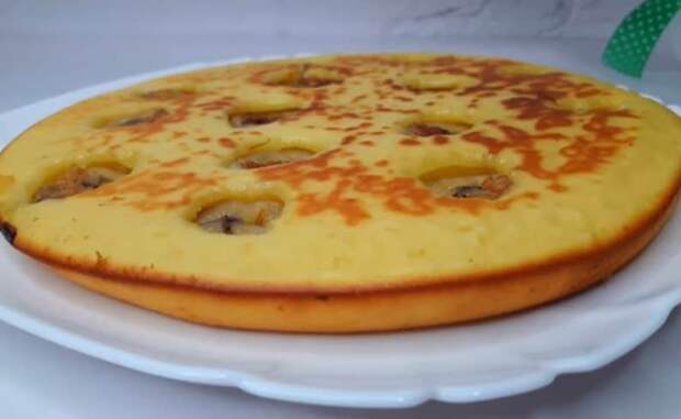 Сладкий пирог с 1 яйцом на сковороде. Удачный рецепт на скорую руку 4