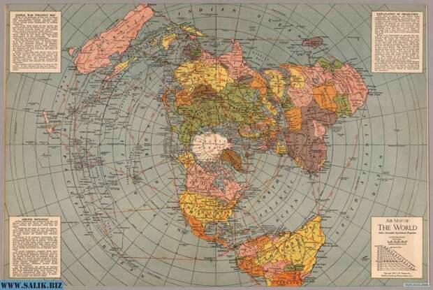 О карте плоской Земли