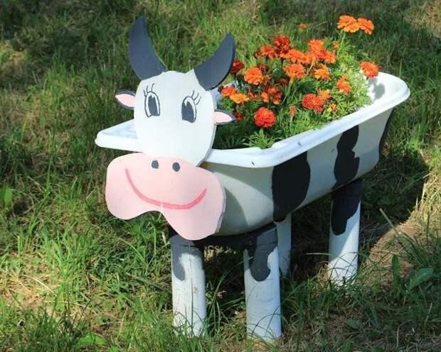 Завели корову на даче))