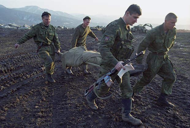 Военнослужащие федеральных войск в Чечне
