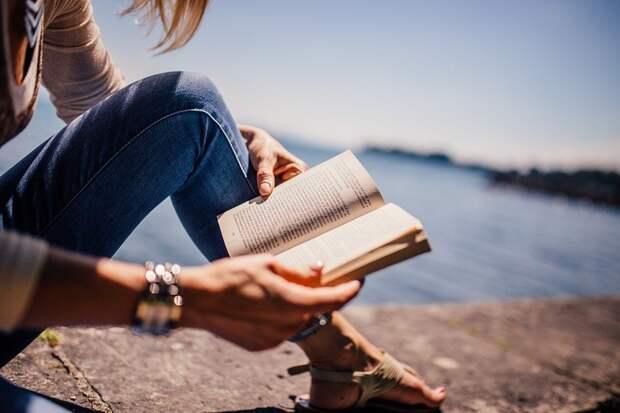 Чтение, Книги, Девочка, Женщина, Солнечный Свет, Озеро