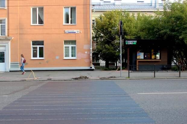 В Ижевске оставят пешеходный переход на улице Советской