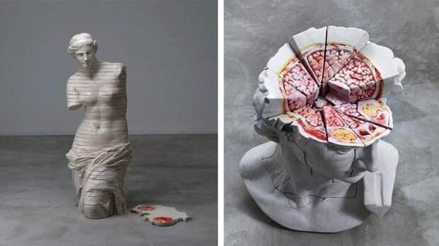 Скульптуры из «плоти». Автор: Cao Hui.