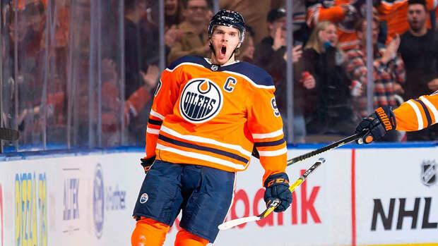 Макдэвид набрал 100 очков в53 матчах сезона НХЛ