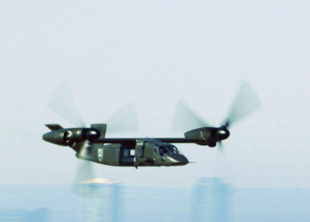 Оружие 10:06 25 Янв. 2019 Сложность 3.2 Конвертоплан V-280 впервые разогнался до крейсерской скорости