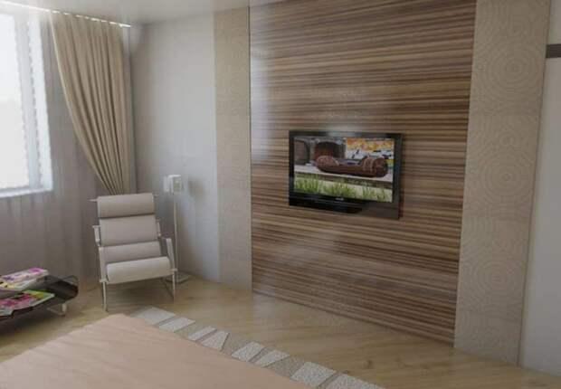 Ламинатом можно обшить отдельную стену или всю комнату / Фото: rubankom.com