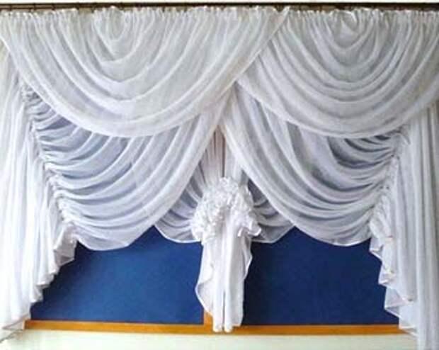 кухонные шторы с драпировкой