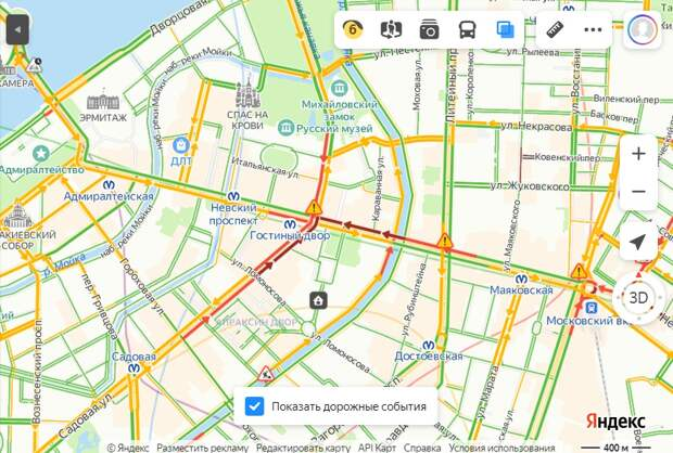 В Петербурге пробки. На Невском коллапс: сломался светофор, попытка его починить провалилась