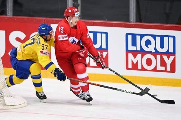 Сборная России в серии буллитов обыграла Швецию в матче ЧМ по хоккею