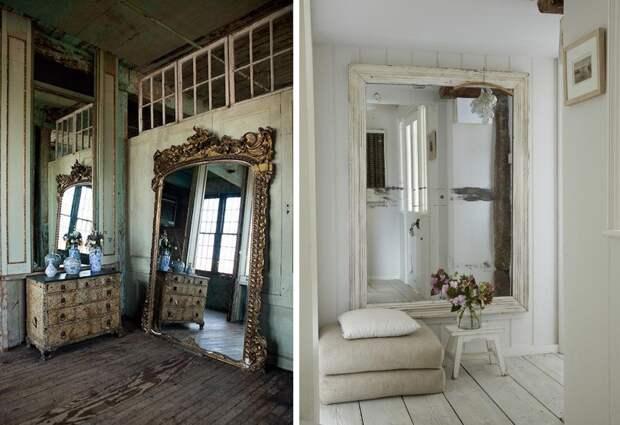 Зеркальная стена в интерьере: особенности оформления (56 фото)