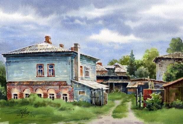 Акварели старинных русских городов Ольги Ивлевой