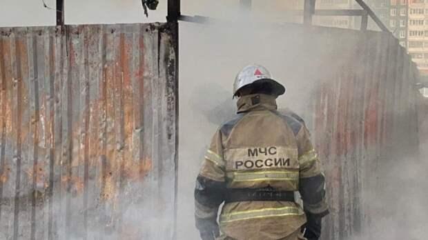 Опубликовано видео с места крупного пожара на территории завода в Новосибирске