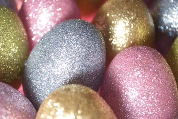 яйца в блестках