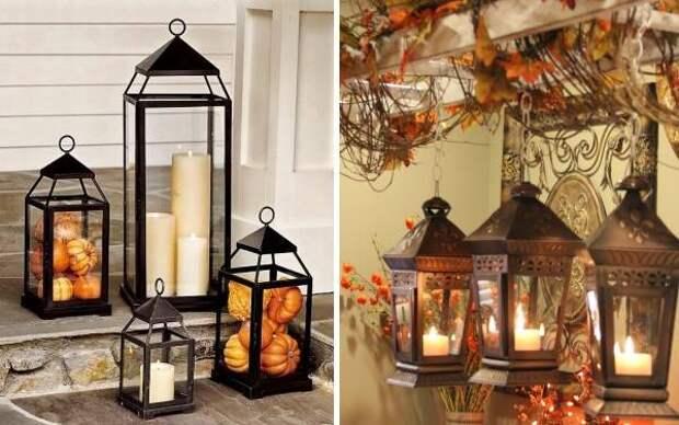 Осенний декор - светильники своими руками