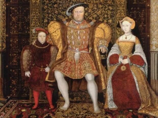 Генрих VIII с семьёй