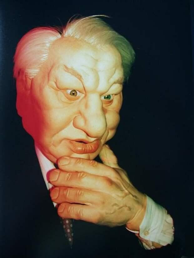 Куклa Бориса Николаевичa Ельцинa. Москва. РФ. 1998 год.