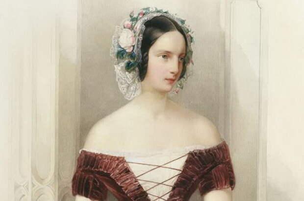 Гау В. Портрет великой княжны Александры Николаевны. Около 1840. Фрагмент