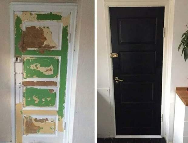 Та же самая дверь, но выглядит уже совсем по-другому было стало, вещи, очумелые ручки, реставрация, своими руками