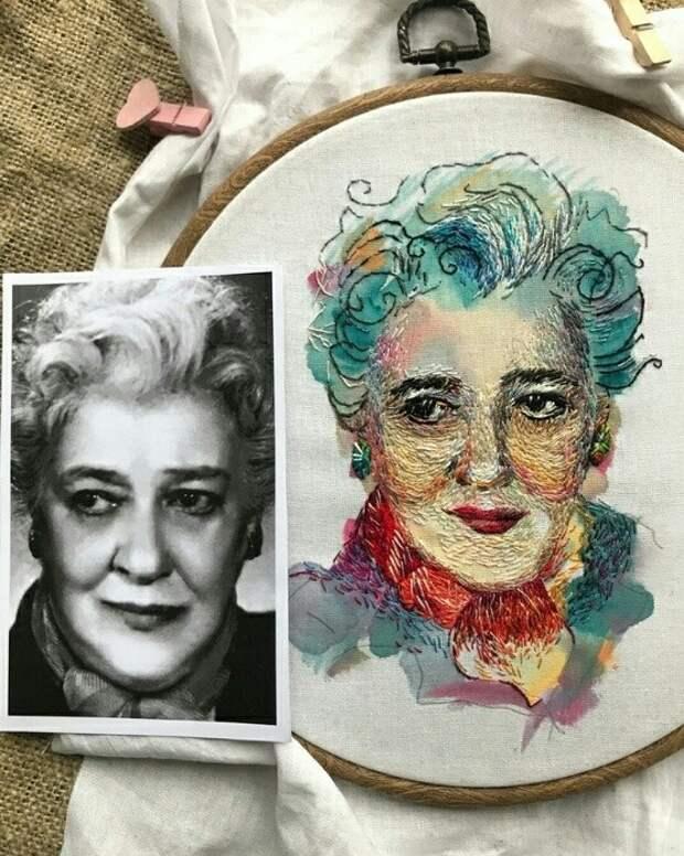 Вышитые портреты! Красиво и необычно!