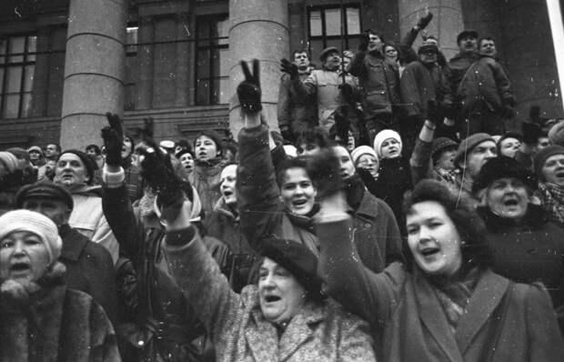 Демонстрация против независимости Литвы.1991г.