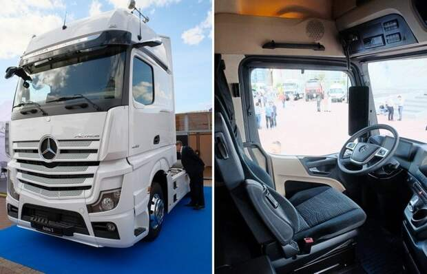 Немцы показали новейший грузовик без зеркал заднего вида и с кабиной размером с огромную комнату