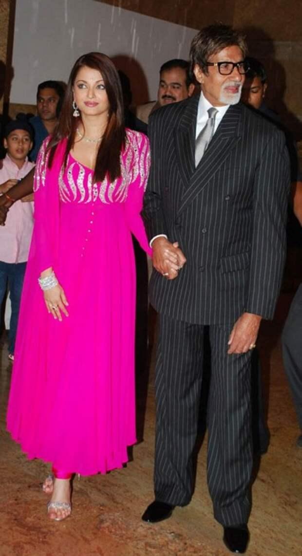 Амитабх Баччан и Айшварья Рай. Фото /  Aishwarya Rai, Amitabh Bachchan. Photo