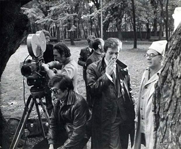 На съёмках фильма «Покровские ворота». СССР. 1981 г.