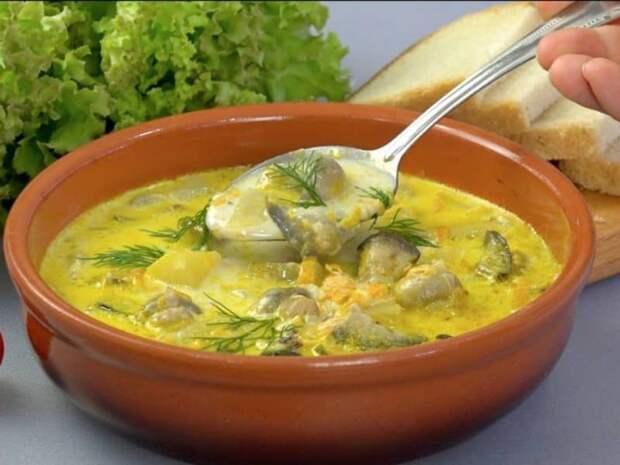 Грибной суп с баклажанами: великолепное первое блюдо из любимых грибочков