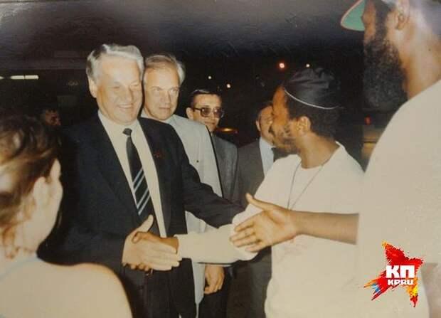 Встреча Бориса Ельцина с жителями Америки. Фото: Ельцин Центр