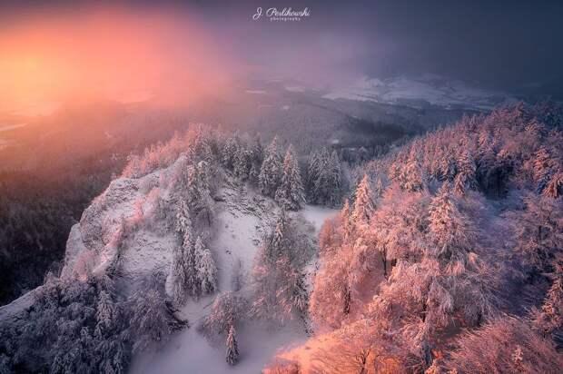 Волшебные зимние пейзажи в горах
