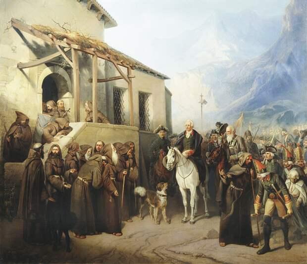 Как встречали войска Суворова в захваченных городах