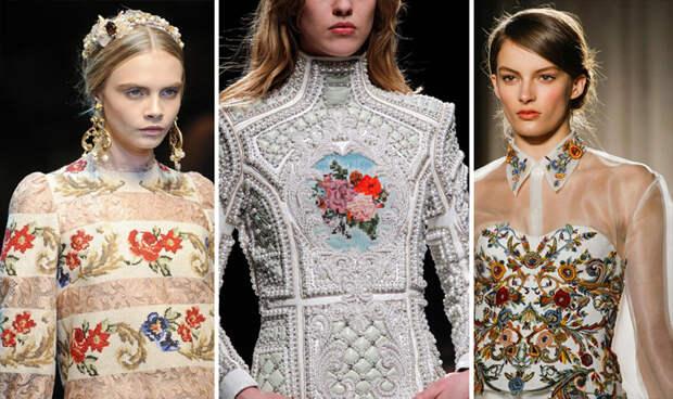 Почему вышивание и вышитые узоры на одежде снова в моде