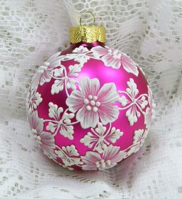 Новогодние расписные шарики