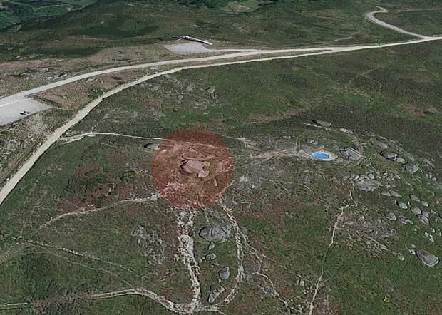Скриншот с Google Maps - расположение Casa do Penedo
