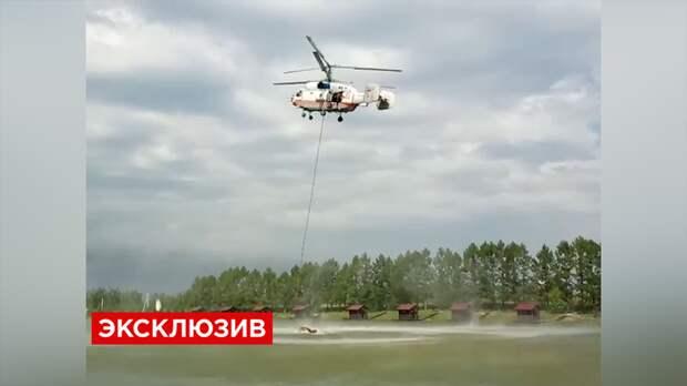 Спасатели МЧС тушили пожар на заводе в Новой Москве осетрами, форелью и сомами