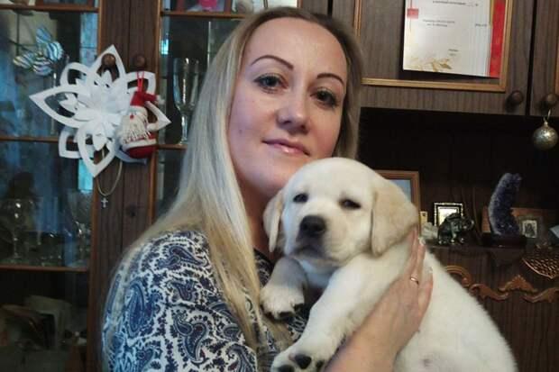 Оксана Бобок мечтала именно о собаке породы лабрадор. Фото: семейный архив.