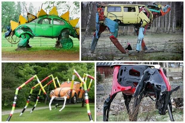 Садовые скульптуры Стиль, Фабрика идей, дизайн, интересное, машины, фантазия, что сделать