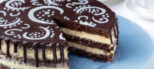 торт лимон в шоколаде
