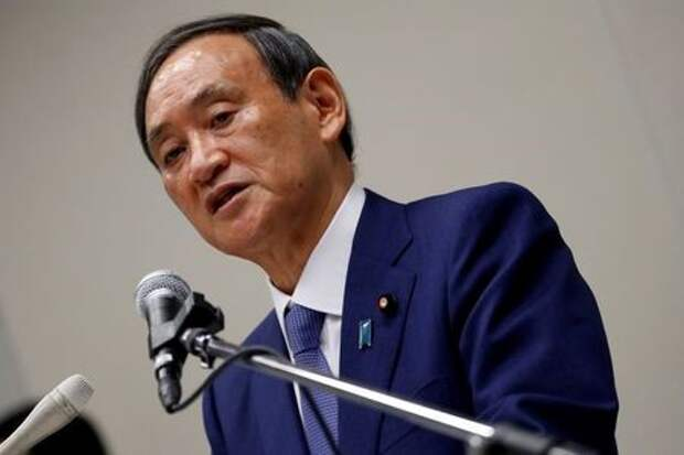 Генеральный секретарь кабинета министров Японии Ёсихидэ Суга в Токио, Япония, 2 сентября 2020 года. REUTERS/Issei Kato
