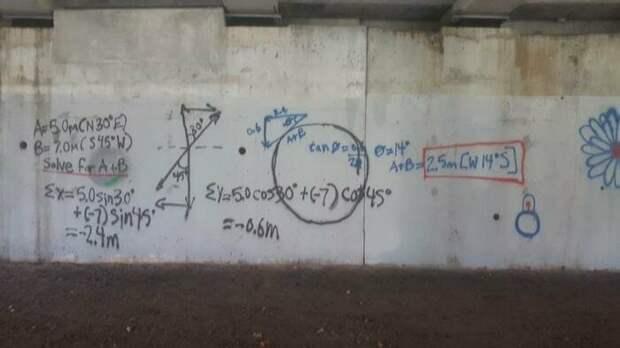 Интеллигентное граффити. Теперь точно всё видели когнитивный диссонанс, логика, подборка, прикол, разрыв шаблона, юмор