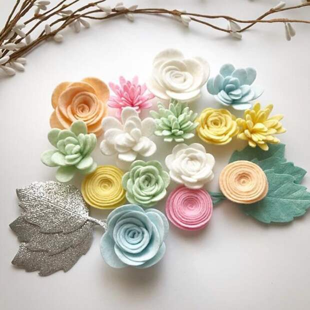Цветы из фетра (шаблоны)
