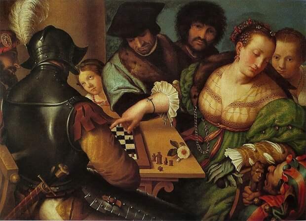 Джулио Кампи, «Игра в шахматы», 1530-1532.