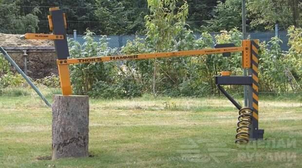 Механический пружинный колун с ручным приводом